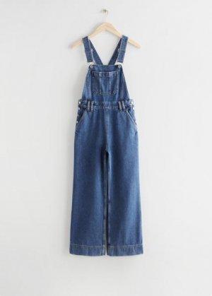 Свободный джинсовый комбинезон &Other Stories. Цвет: синий