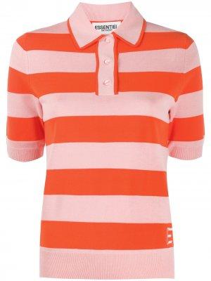 Рубашка поло в полоску Essentiel Antwerp. Цвет: оранжевый