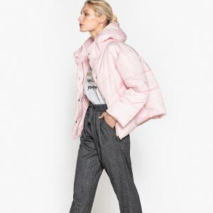 Куртка с большим воротником LA REDOUTE COLLECTIONS. Цвет: небесно-голубой