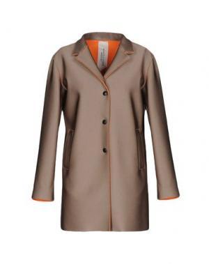 Легкое пальто MANUELA CONTI. Цвет: голубиный серый