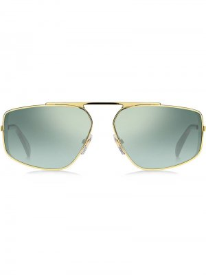 Солнцезащитные очки в металлической оправе Givenchy Eyewear. Цвет: золотистый