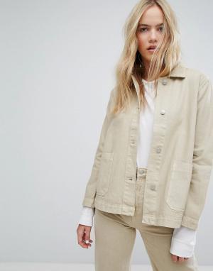 Джинсовая куртка Weekday. Цвет: бежевый