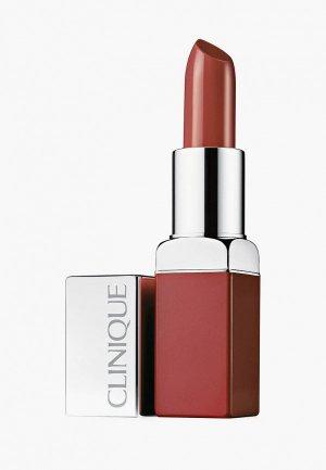 Помада Clinique интенсивный цвет и уход Pop Lip Colour + Primer, Mocha Pop, 3.9 г. Цвет: розовый