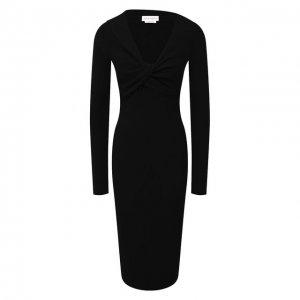 Шерстяное платье Alexander McQueen. Цвет: чёрный