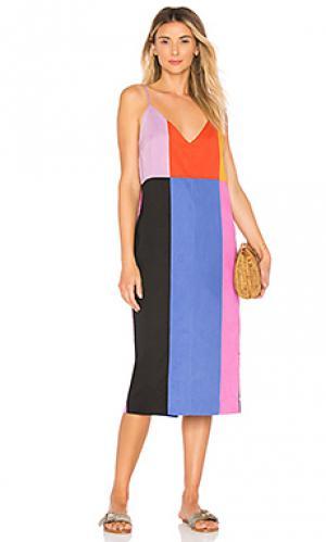Платье georgia Mara Hoffman. Цвет: красный