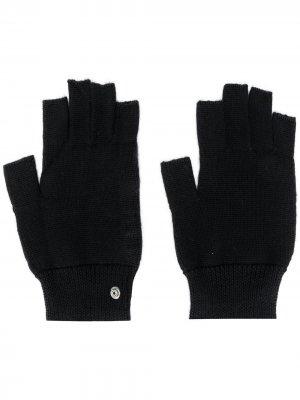 Перчатки-митенки Performa Rick Owens. Цвет: черный