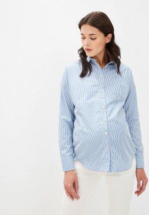 Рубашка Olesya Zubova Stripesail. Цвет: голубой