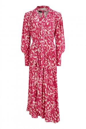 Асимметричное платье с принтом Bisma Isabel Marant. Цвет: фуксия