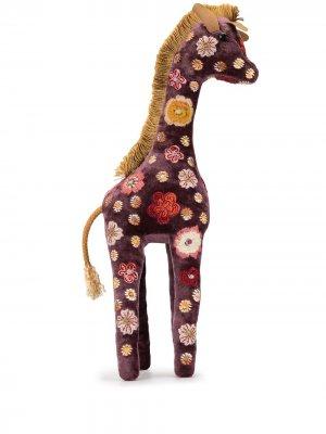 Мягкая игрушка с цветочной вышивкой Anke Drechsel. Цвет: фиолетовый