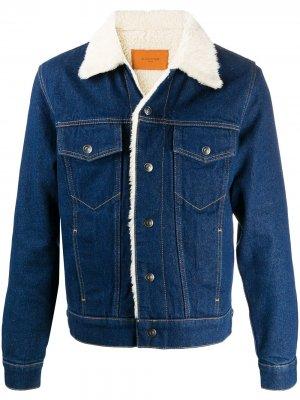 Однобортный пиджак в ломаную клетку Sandro Paris. Цвет: синий