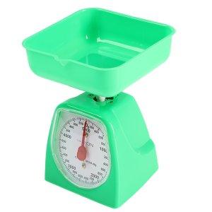 Весы кухонные luazon lvkm-501, механические, до 5 кг, чаша 1200 мл, зелёные Home