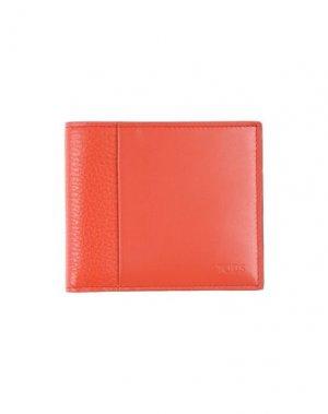 Бумажник TOD'S. Цвет: коралловый