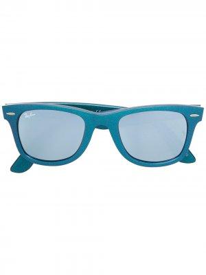 Солнцезащитные очки Wayfarer Ray-Ban. Цвет: синий