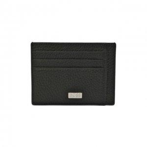 Кожаный футляр для кредитных карт BOSS. Цвет: чёрный
