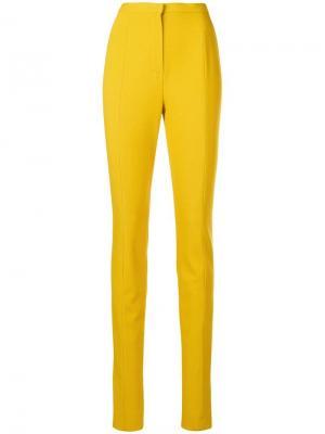 Классические брюки скинни Lanvin. Цвет: желтый
