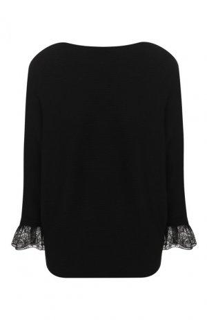 Пуловер из смеси шерсти и шелка Chloé. Цвет: черный