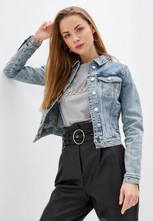 Куртка джинсовая Guess Jeans Sexy Trucker. Цвет: голубой
