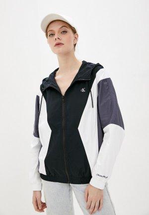 Ветровка Calvin Klein Jeans. Цвет: разноцветный