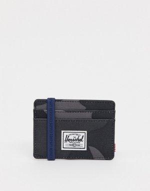 Черная камуфляжная визитница Charlie-Черный Herschel Supply Co