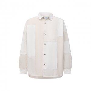 Джинсовая рубашка AMBUSH. Цвет: белый