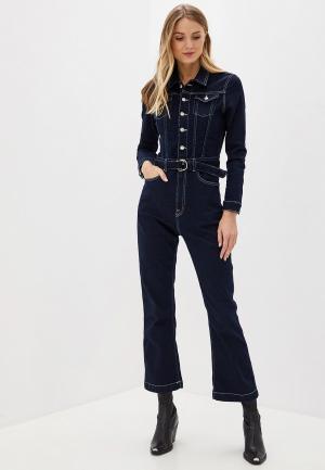 Комбинезон джинсовый Pepe Jeans Dua Lipa. Цвет: синий