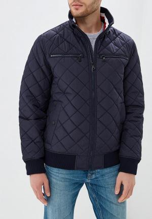 Куртка утепленная Tommy Hilfiger. Цвет: синий