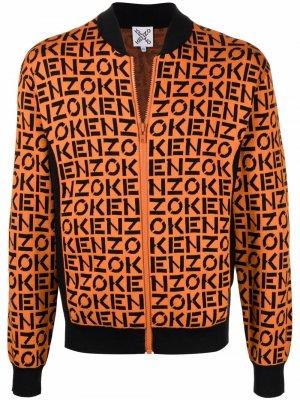 Бомбер с монограммой Kenzo. Цвет: оранжевый