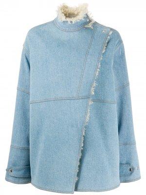 Джинсовая куртка Olive с подкладкой из овчины Stella McCartney. Цвет: синий