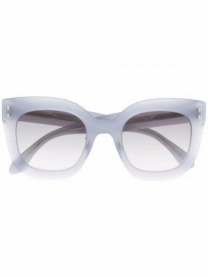 Солнцезащитные очки в массивной оправе Isabel Marant Eyewear. Цвет: синий