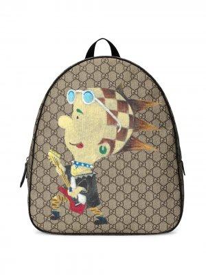 Рюкзак с принтом GG Punk Gucci Kids. Цвет: нейтральные цвета