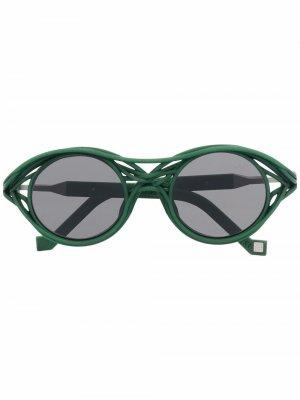 Солнцезащитные очки CL0015 в круглой оправе VAVA Eyewear. Цвет: зеленый