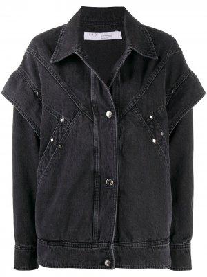 Многослойная джинсовая куртка с длинными рукавами IRO. Цвет: черный