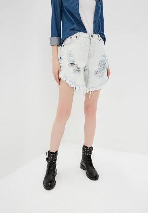 Шорты джинсовые One Teaspoon FRANKIES LONG LENGTH. Цвет: голубой