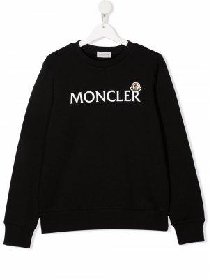 Logo-print cotton sweatshirt Moncler Enfant. Цвет: черный