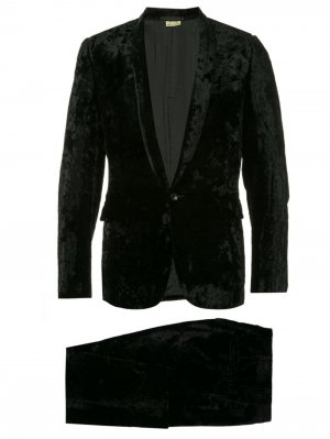 Бархатный костюм-двойка Comme Des Garçons Pre-Owned. Цвет: черный