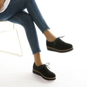 Туфли дерби на шнурках SHEIN. Цвет: чёрный