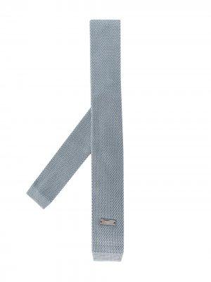 Трикотажный галстук Emporio Armani Kids. Цвет: синий