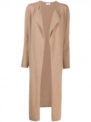 Длинное пальто-кардиган Allude. Цвет: нейтральные цвета