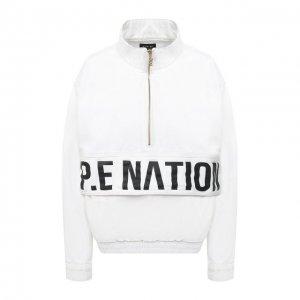 Джинсовый анорак P.E. Nation. Цвет: белый
