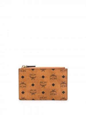 Мини-кошелек с монограммой MCM. Цвет: коричневый