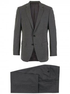 Костюм с однобортным пиджаком BOSS. Цвет: серый