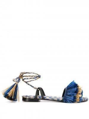 Босоножки с ремешком на щиколотке Avec Modération. Цвет: синий