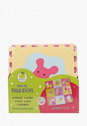 Коврик детский ЯиГрушка Пазл, Малыш Кенгуру, 1х31х31 см (9 деталей). Цвет: разноцветный