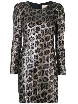 Платье мини с пайетками Aniye By. Цвет: черный