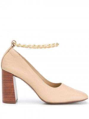 Block heel pumps Senso. Цвет: нейтральные цвета
