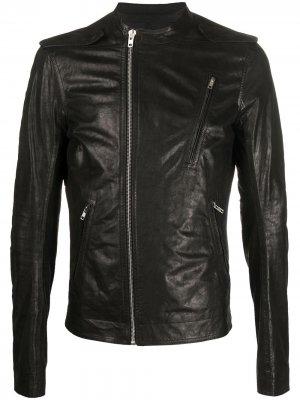 Байкерская куртка на молнии Rick Owens. Цвет: черный