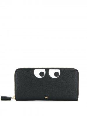 Декорированный кошелек на молнии Anya Hindmarch. Цвет: черный