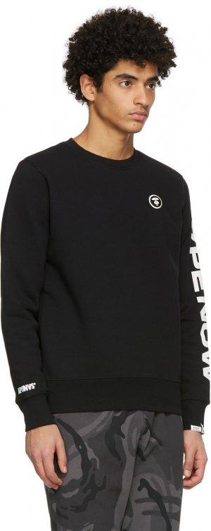 Black Detachable Logo Sweatshirt AAPE by A Bathing Ape. Цвет: black