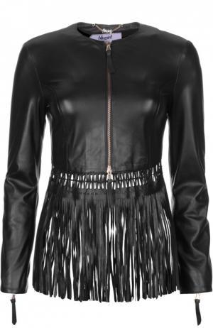Кожаная куртка Blugirl. Цвет: черный