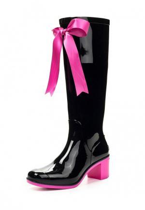 Резиновые сапоги Boomboots BLACK&PINK. Цвет: разноцветный